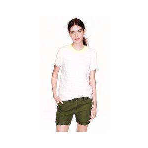 J. Crew Women's Foundry Shorts Olive Green Rolls